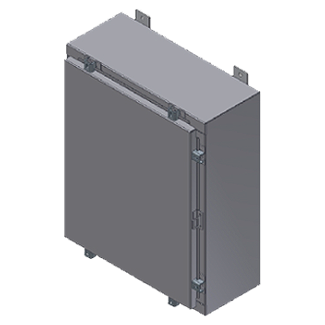 Steeline Enclosures S Series Single Door Aluminum Type 4X Wall Mount Enclosure product image